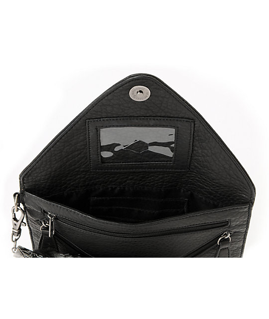 Volcom Furballz Black Clutch Wallet