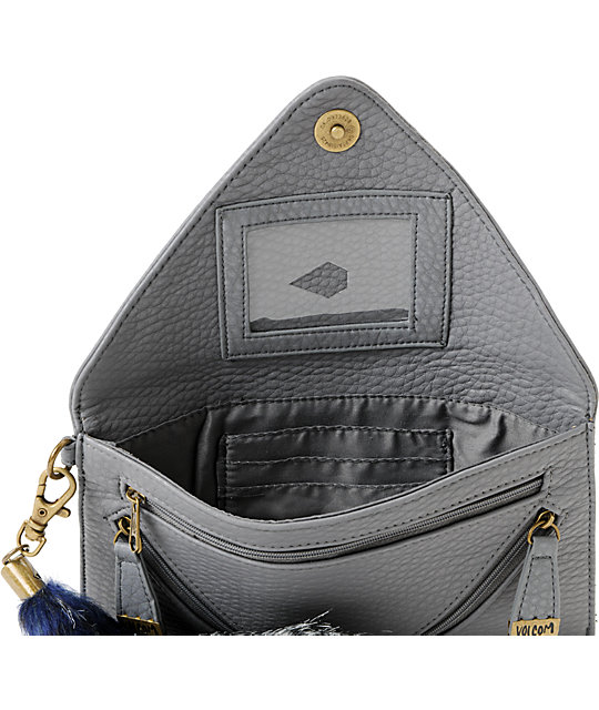 Volcom Furballz Grey Clutch Wallet