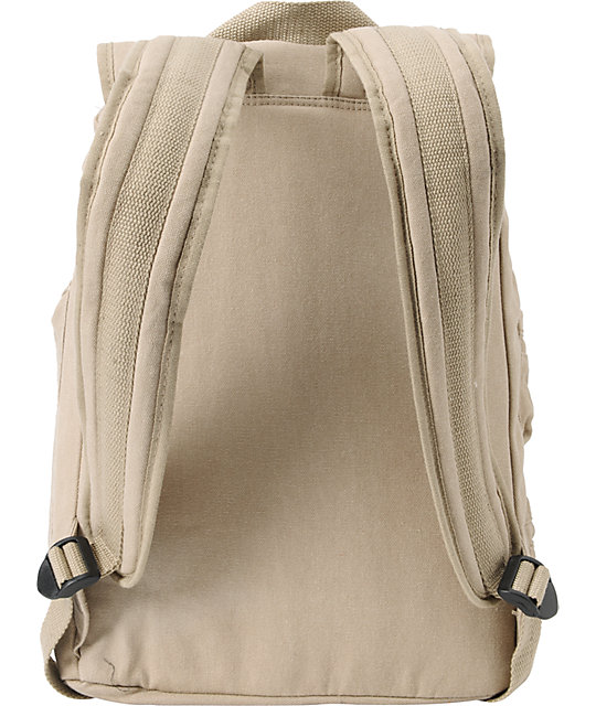 Volcom Girls Ditch Day Khaki Laptop Backpack