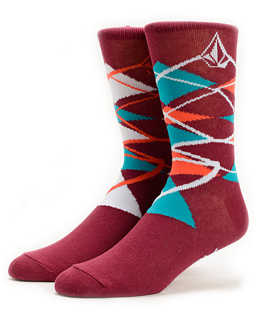 Volcom Gnar Maple Crew Socks