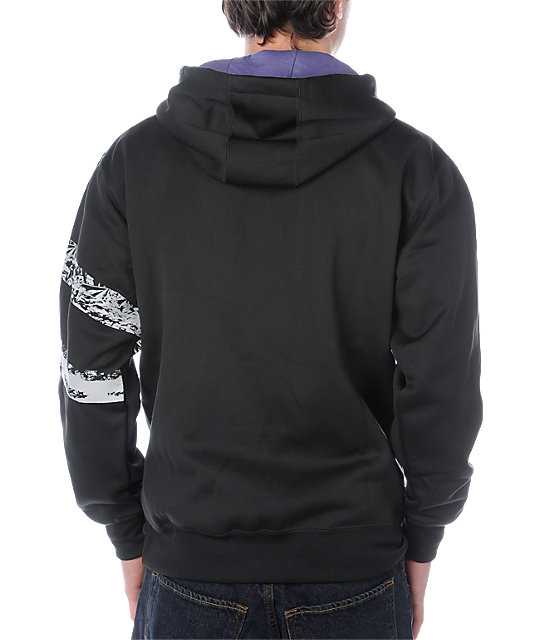 Volcom Grinded Black Tech Fleece Jacket
