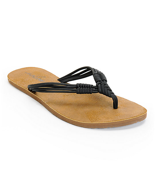 Volcom Have Fun Black and Brown Sandals