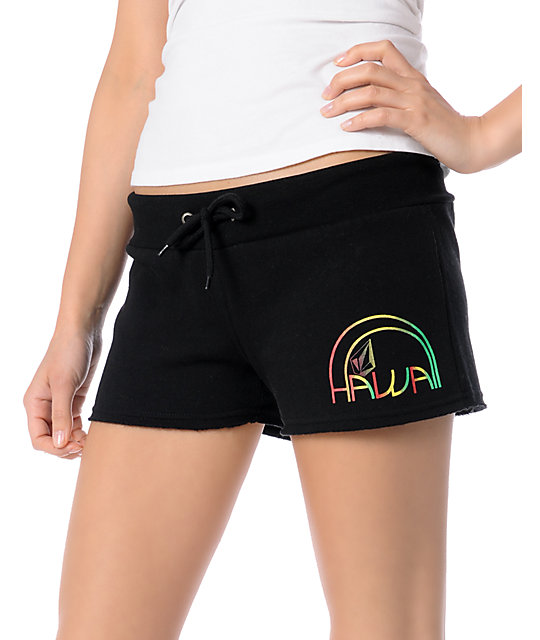 Volcom Hawaiian Getaway Black 2 Shorts