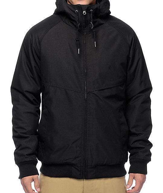 Volcom Hernan Black Insulated Bomber Jacket ...