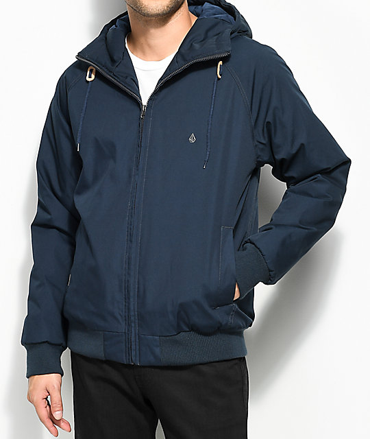 Volcom Hernan Insulated Navy Bomber Jacket ...
