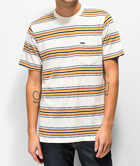 Volcom Idle Crew Off White Knit T-Shirt