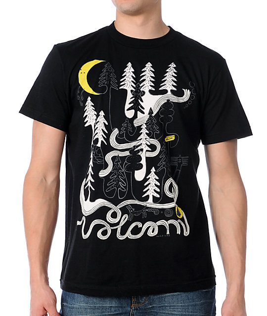 Volcom J Forest Black UV Color Changing T-Shirt
