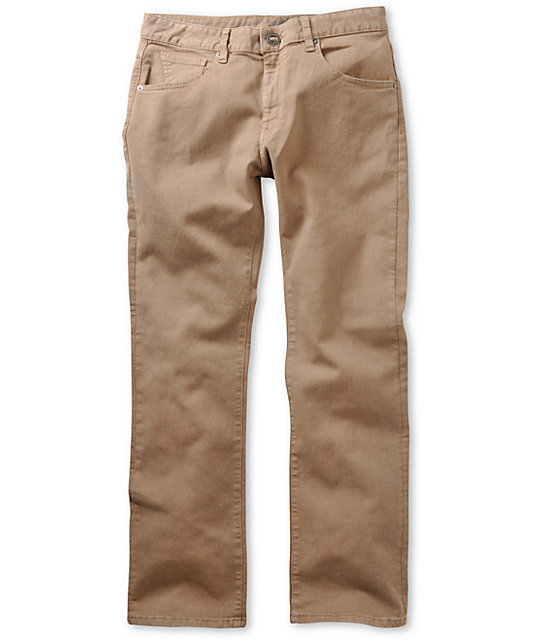 Volcom Kinkade Khaki Regular Fit Jeans