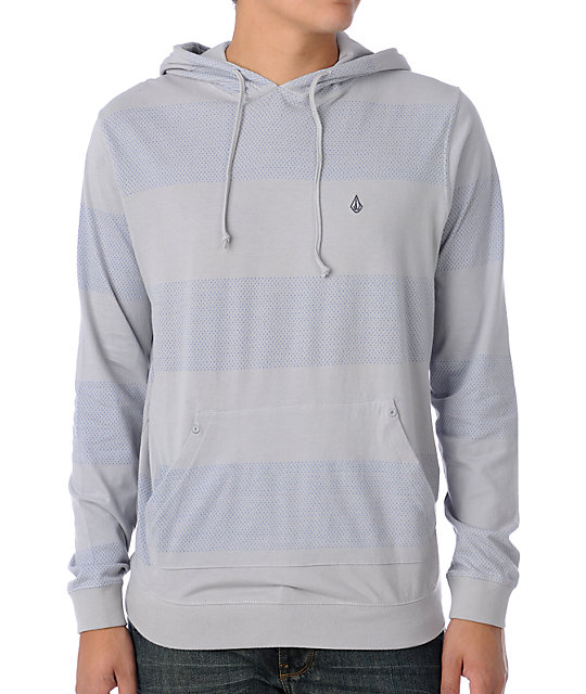 Volcom Landslide Grey Hooded Knit
