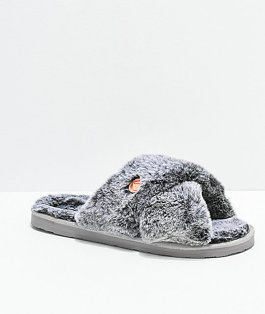 2b39a7460b89 Volcom Lil Slip Heather Grey Slipper Sandals