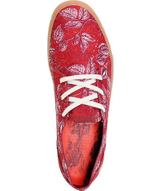 Volcom Lo Fi Red Paradise Lost & Gum Canvas Shoes
