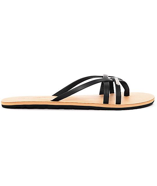 0ef2630424d0cd ... Volcom Lookout 2 Black Sandals