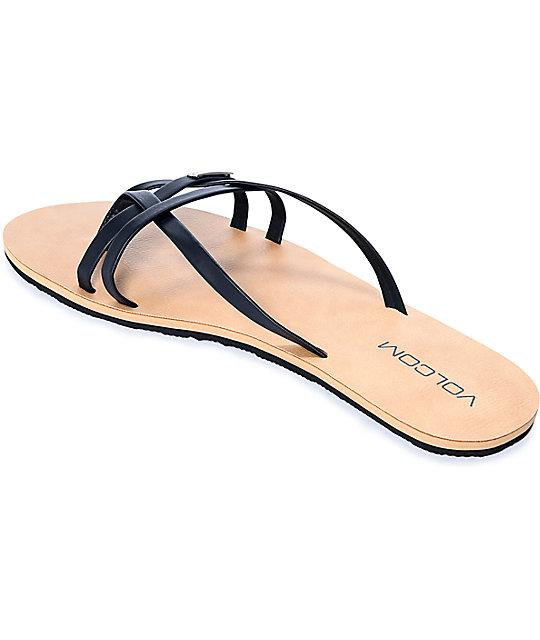 2510292bf01d2b ... Volcom Lookout 2 Black Sandals ...