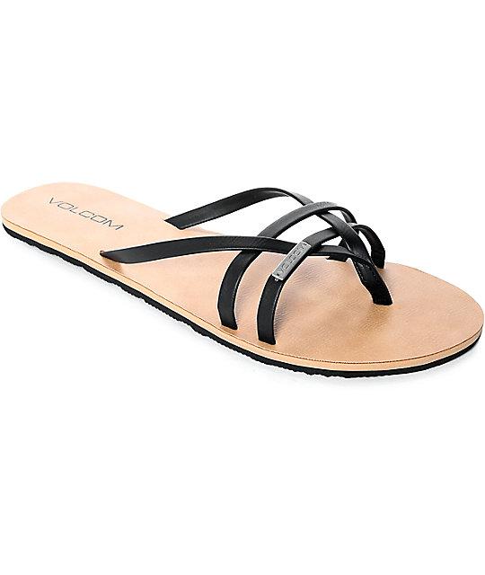 97f1788a796 Volcom Lookout 2 Black Sandals