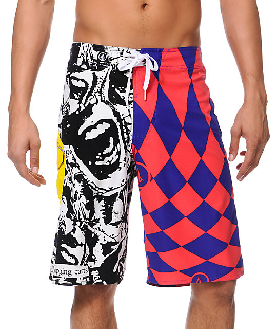 Volcom Maguro Paradox Pink & Purple 22 Board Shorts