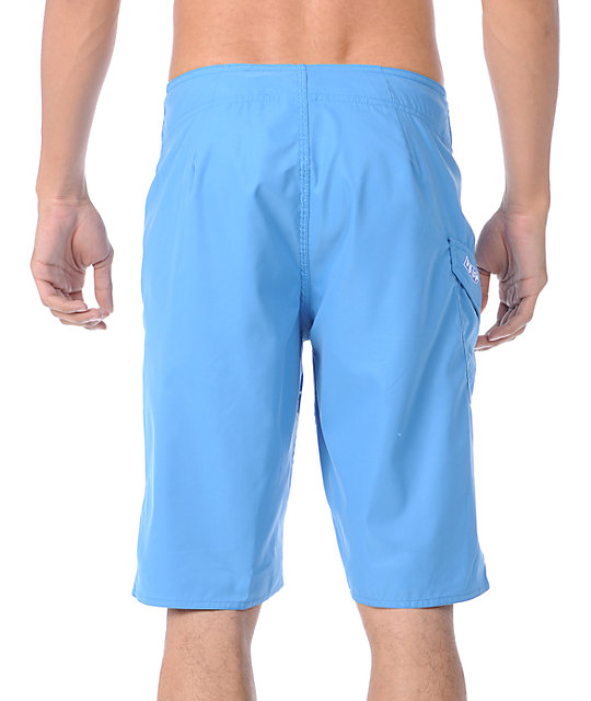 Volcom Maguro Solid Blue 21.5 Board Shorts