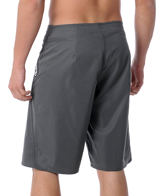 Volcom Maguro Solid Charcoal Board Shorts