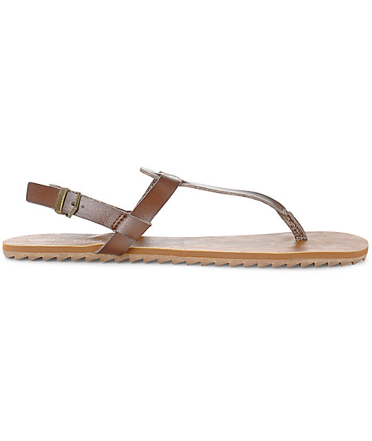 Volcom Maya Brown Leather Sandals
