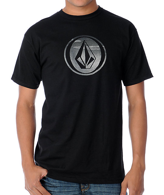 Volcom Mens Torn Dot Black T-Shirt