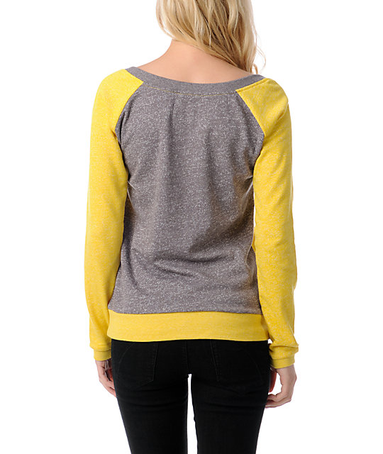 Volcom Moclov Yellow Crew Neck Sweatshirt