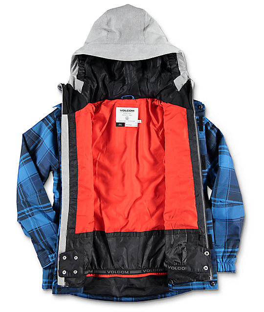 Volcom Neolithic Boys Blue Insulated Snowboard Jacket