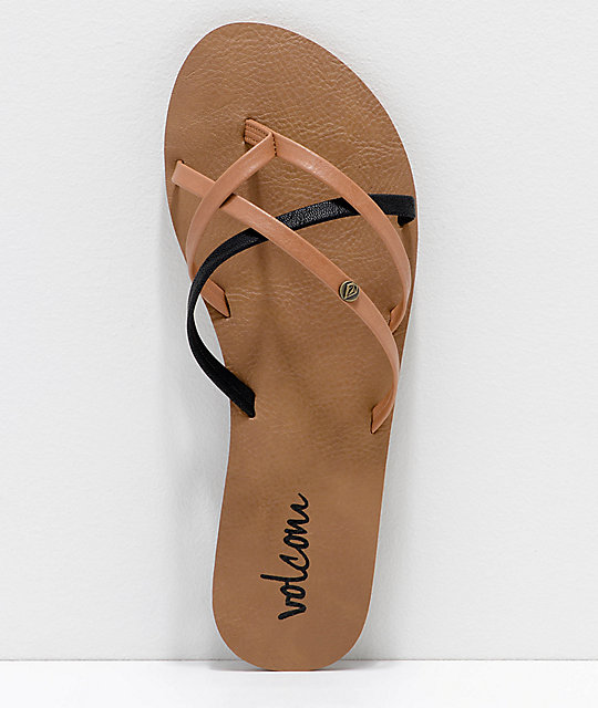 Volcom New School Brown & Black Sandals