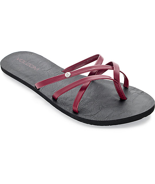 52a6a878ff97 Volcom New School Burgundy Sandals