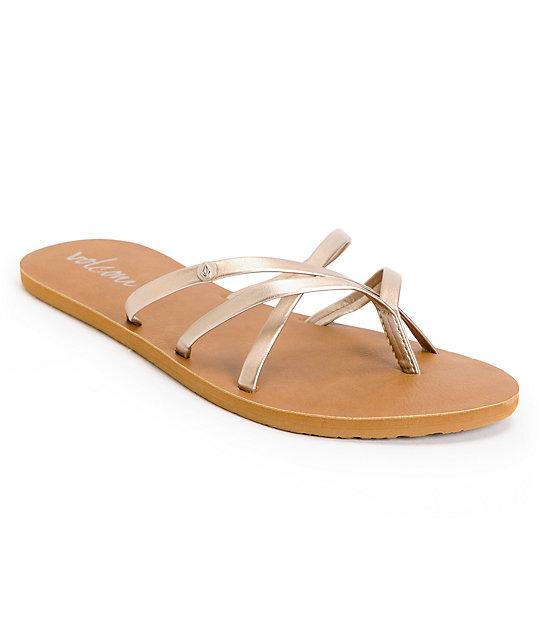 Volcom New School Champagne Creedler Sandals