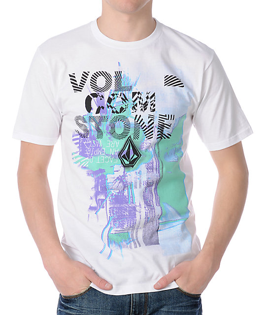 Volcom No Cyan White T-Shirt