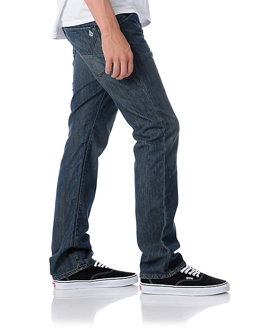 Volcom Nova Now Medium Blue Slim Jeans