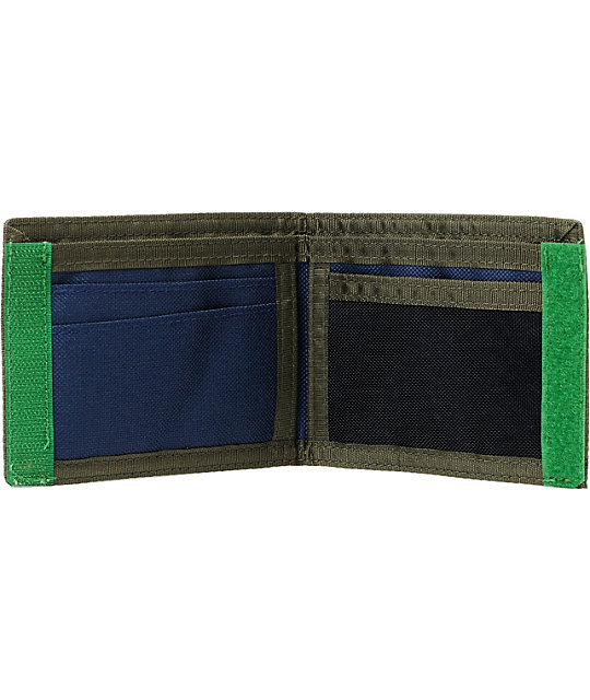 Volcom Outdoors Navy & Olive Bifold Wallet