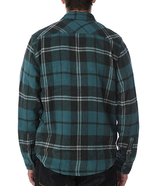 Volcom Oversight Blue Flannel Shirt