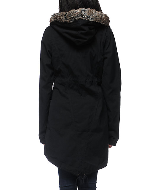 Volcom Park It Black Parka Jacket