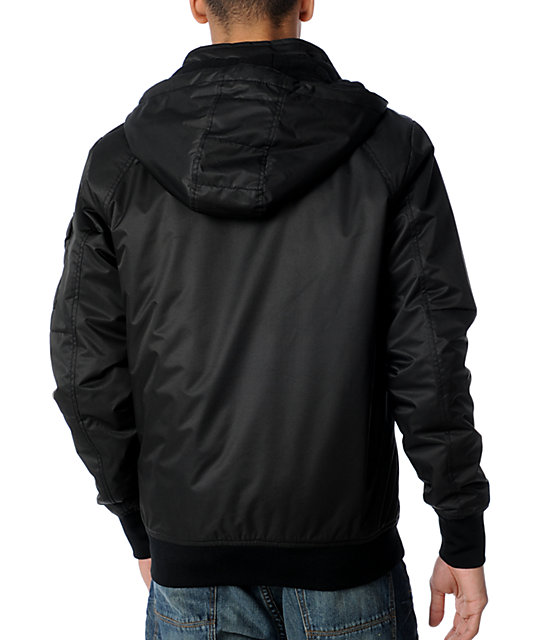 Volcom Peace Bomb Black Bomber Jacket