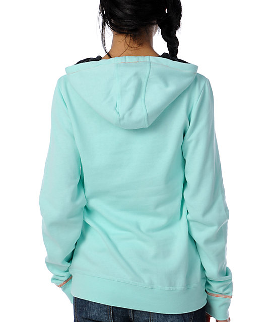 Volcom Piping Aqua Pullover Tech Fleece Jacket