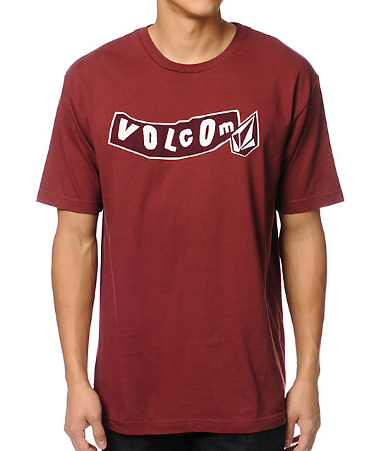 Volcom Pistol Dark Red T-Shirt