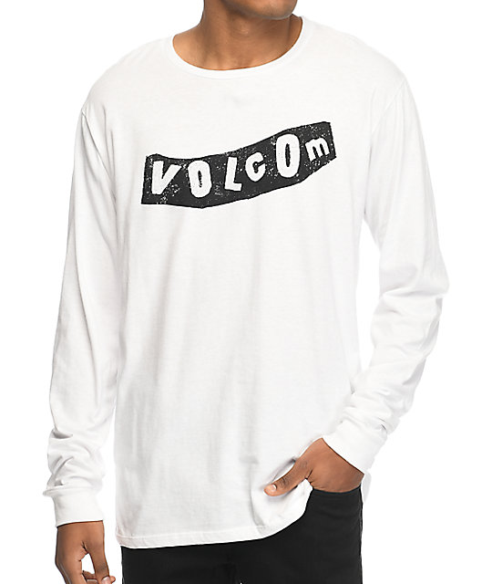 bb8f1dec Volcom Pistol White & Black Long Sleeve T-Shirt | Zumiez