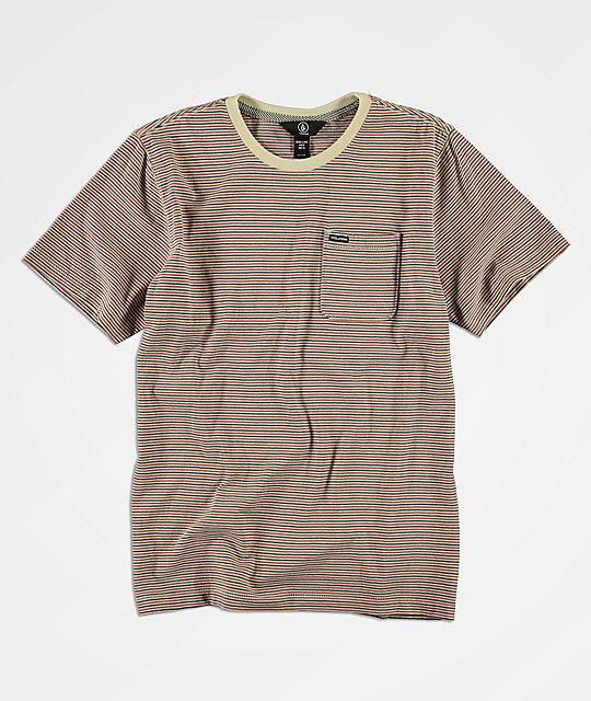 57676b0b5 Volcom Preston camiseta de rayas para niños ...