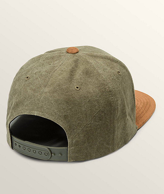 lowest price 3bb7c 3f90f ... get volcom quarter fabric army green combo snapback hat 40176 7cb31