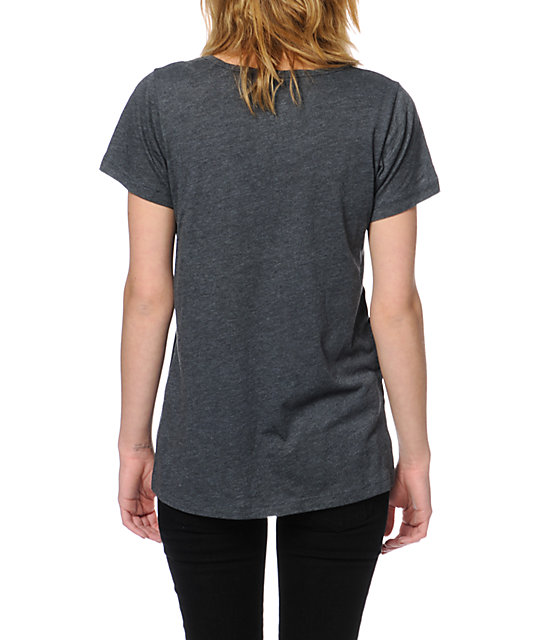 Volcom Rebel Tour Charcoal V-Neck T-Shirt