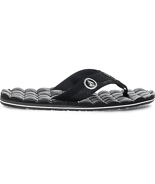 Volcom Recliner Black & White Sandals