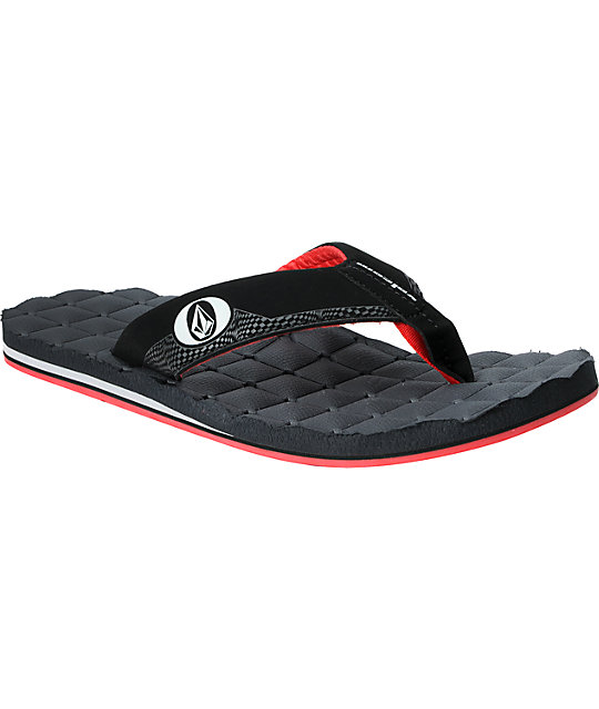 Volcom Recliner Creedler Black & Pewter Sandals
