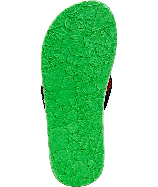 ... Volcom Recliner Rasta Sandals 6289a069215