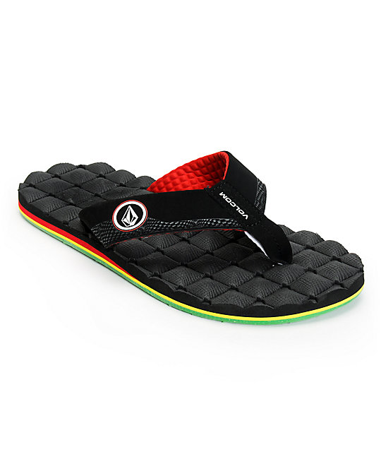 Volcom Recliner Rasta Sandals  22f5d6d9b93