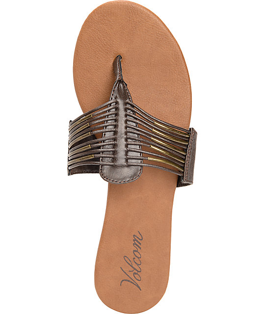 Volcom Required Brown & Gold Sandals