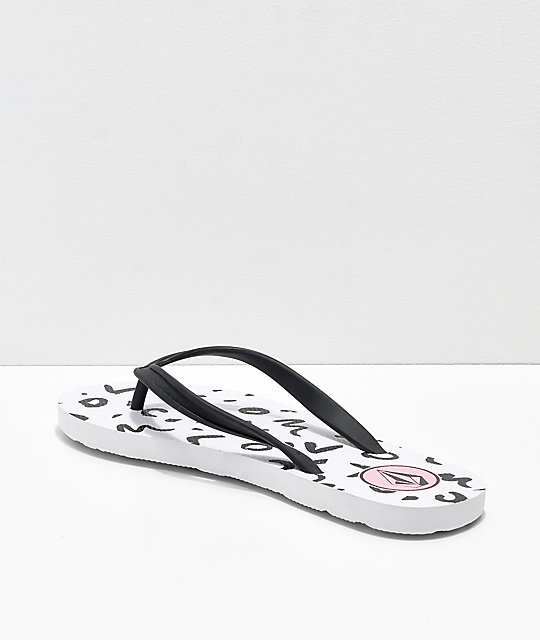 Volcom Rocking 3 Black & White Sandals