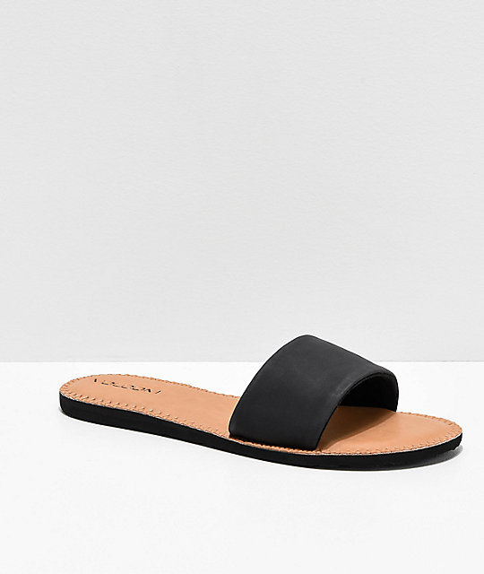 Volcom Simple Black Slide Sandals