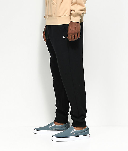 Volcom Single Stone Black Sweatpants