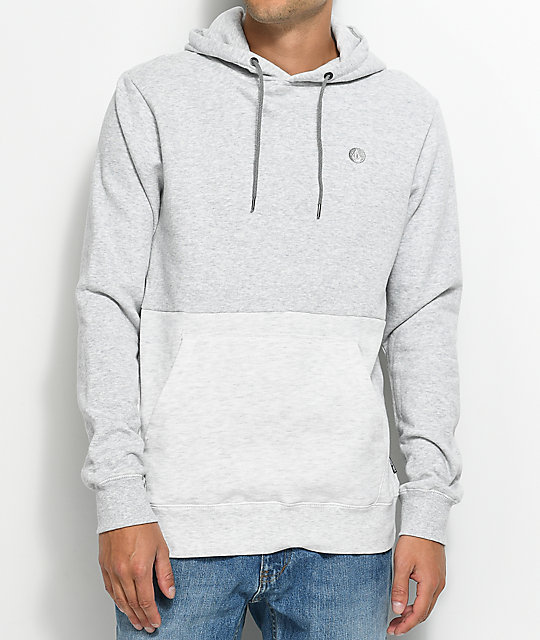 Volcom Single Stone Grey & White Pullover Hoodie ...