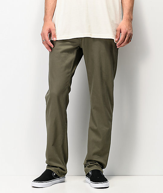 Volcom Solver Army Green Denim Jeans